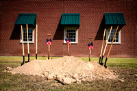 Groundbreaking of Nederland TX. Veterans' Park, July 27th 2015